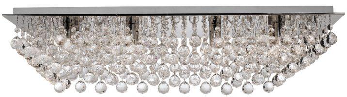 Hanna Large Rectangular 8 Lamp Crystal Ceiling Light