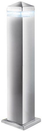 Modern Satin Stainless Steel Pyramid Outdoor LED Post Light IP44