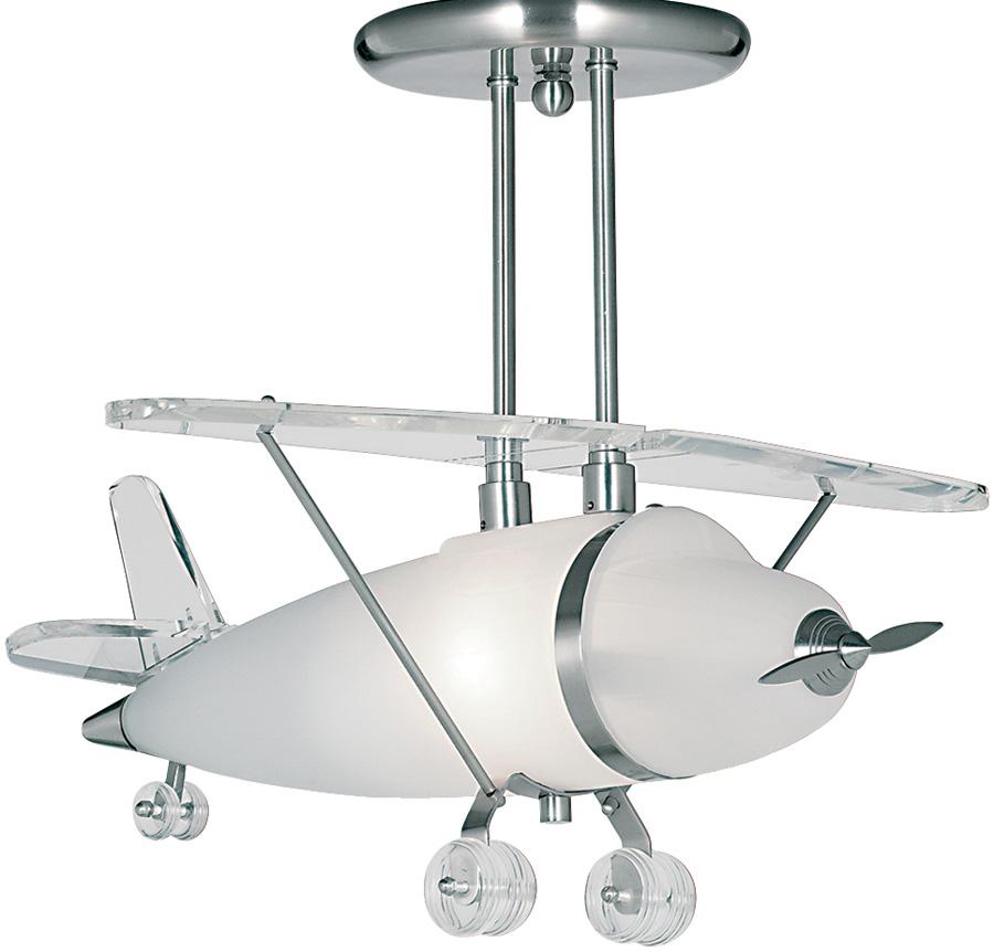 Childs Bedroom Semi Flush Aeroplane Ceiling Light