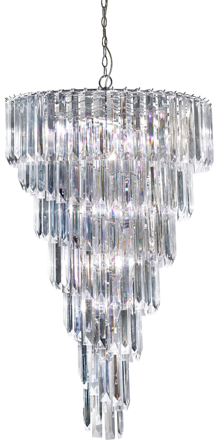 Sigma chrome 9 light spiral chandelier with clear acrylic prisms sigma chrome 9 light spiral chandelier with clear acrylic prisms aloadofball Image collections