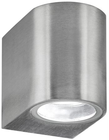 Modern Satin Silver Outdoor Wall Down Light