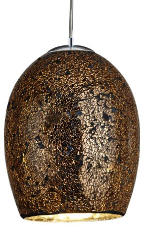 Bronze Mosaic Crackle Glass Single Lamp Pendant Light