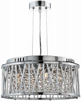 Elise 5 Light Ceiling Pendant Polished Chrome Crystal Diamond Cut Tubes