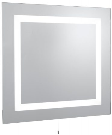 Square Low Energy Bathroom Mirror With Lights IP44