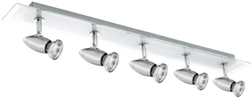 Saturn Chrome And Glass 5 Spot Lamp Ceiling Light
