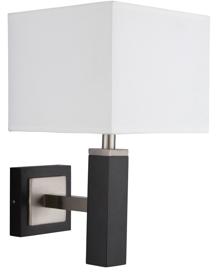 Square Wall Lamp Shades : Waverley Square Shade Single Wooden Wall Light 8878BR