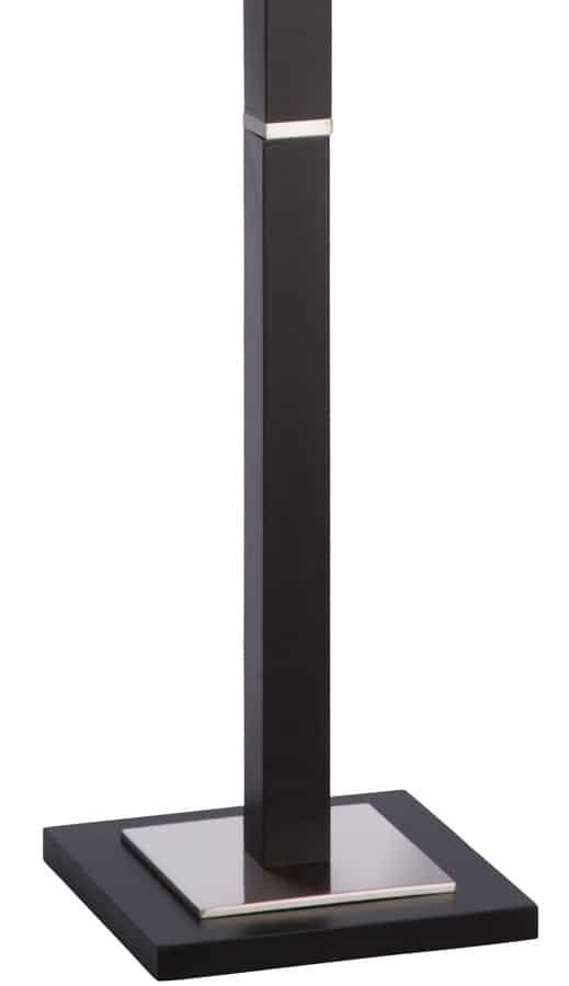 Waverley Square Shade Dark Wood Floor Lamp 8880br