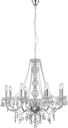 Marie Therese Clear Acrylic 8 Light Chandelier