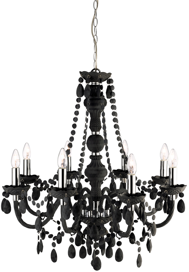 Marie Therese Grey Acrylic 8 Light Chandelier 88888GY – Grey Chandelier