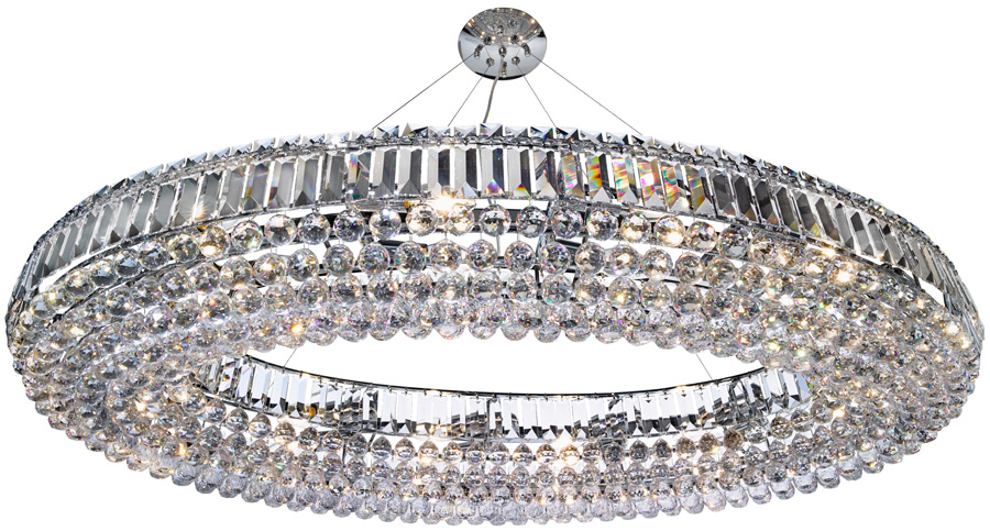 vesuvius chrome oval luxury 24 light large crystal. Black Bedroom Furniture Sets. Home Design Ideas