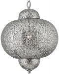 Moroccan Style Nickel Ceiling Pendant Light