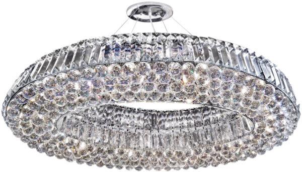 Vesuvius Chrome Oval Luxury 10 Light Crystal Chandelier