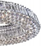 Vesuvius Chrome Oval Luxury 10 Light Crystal Chandelier