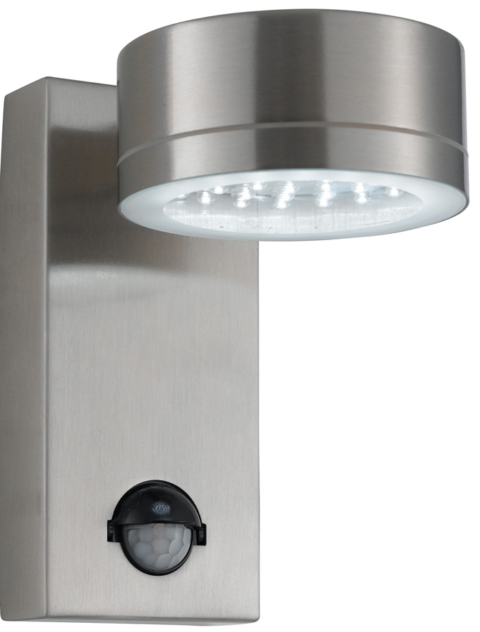 Modern Pir Wall Lights : Modern LED Stainless Steel Outdoor PIR Wall Light 9550SS