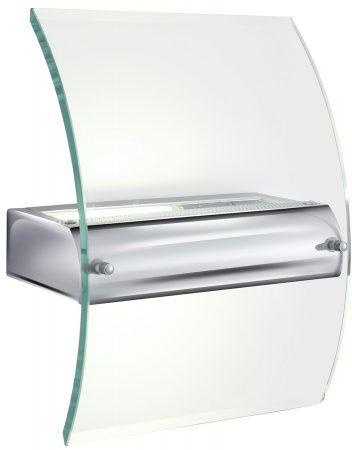 Low Energy Chrome And Curved Glass Wall Washer
