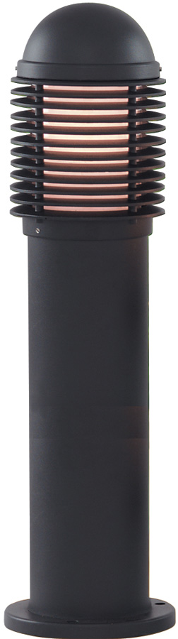 Traditional Black 450mm Outdoor Bollard Light Post