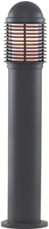 Traditional Black 730mm Outdoor Bollard Light Post