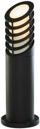 Black Aluminium 450mm Slatted Outdoor Light Bollard