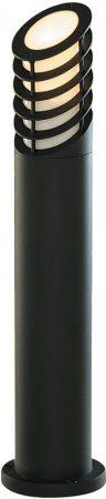 Black Aluminium 730mm Slatted Outdoor Light Bollard