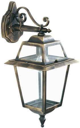 New Orleans Black And Gold Outdoor Wall Lantern