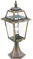 New Orleans Black And Gold Outdoor Post Top Light
