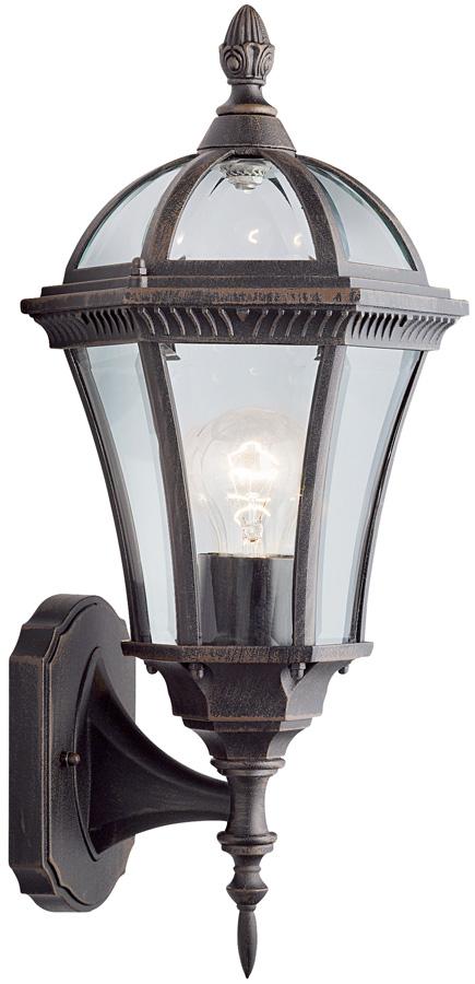 Capri Rustic Outdoor Wall Upward Lantern