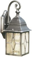 Genoa Traditional Black And Silver Outdoor Wall Lantern