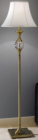 Traditional Bronze Floor Lamp With Off White Bowed Shade