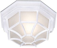 Traditional White IP44 Flush Fitting Outdoor Porch Lantern