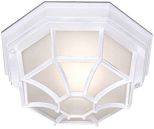 Traditional White IP54 Flush Fitting Outdoor Porch Lantern
