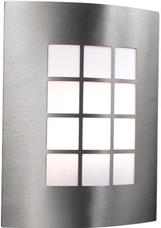 Modern Stainless Steel Flush Fitting Outdoor Wall Light