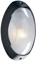Modern Black Oval IP44 Outdoor Bulkhead Light