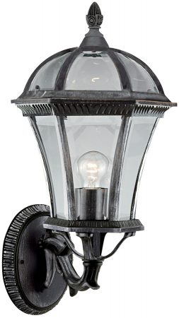 Capri Large Black And Silver Outdoor Wall Light