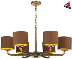 David Hunt Sloane 6 Light Dual Mount Chandelier Bronze