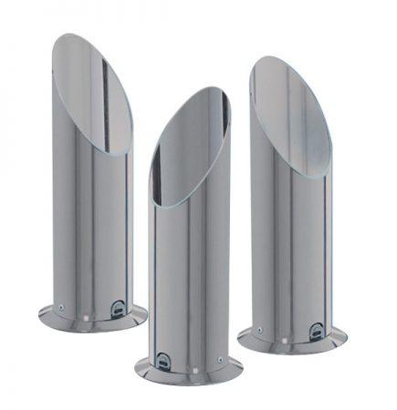 Modern Satin Silver Tube Table Uplighter