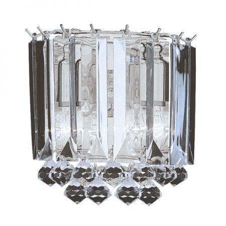 Sigma Modern Chrome Acrylic Prism Wall Light