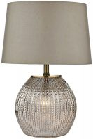 Dar Sonia Modern 2 Light Table Lamp With Shade Antique Gold