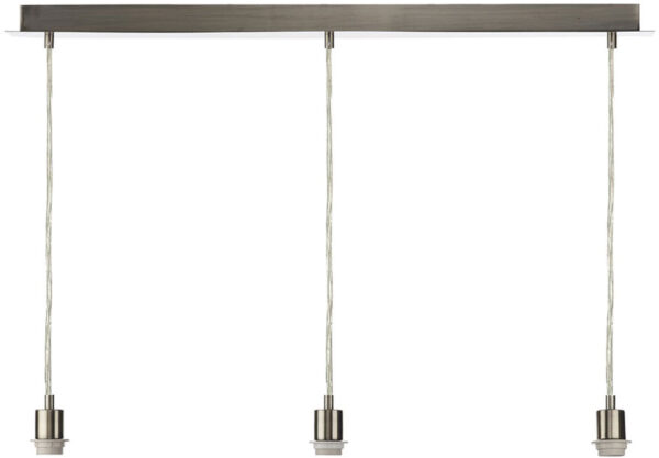 Dar Modern Satin Chrome 3 Light Pendant Ceiling Suspension