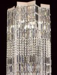 Impex Crystal Art Star 4 Light Chandelier Polished Chrome