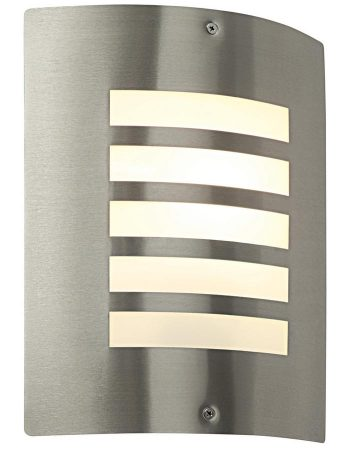 Bianco Modern Slatted Stainless Steel Outdoor Wall Light
