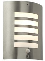 Bianco Modern Slatted Stainless Steel Outdoor PIR Wall Light