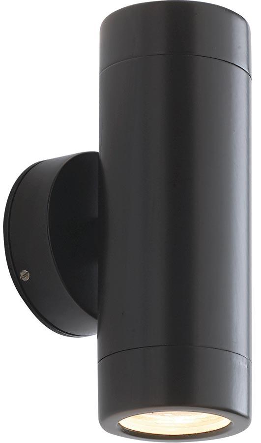 Modern Up And Down Wall Lights : Odyssey Black Finish Modern Outdoor Wall Up And Down Light Universal Lighting