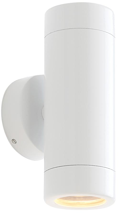 Odyssey White Finish Modern Outdoor Wall Up And Down Light