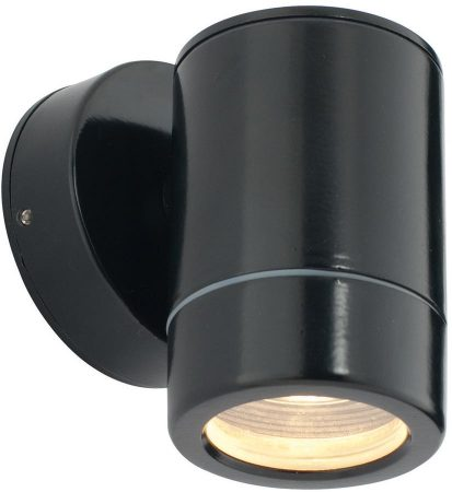 Odyssey Black Finish Modern Outdoor Wall Down Spotlight