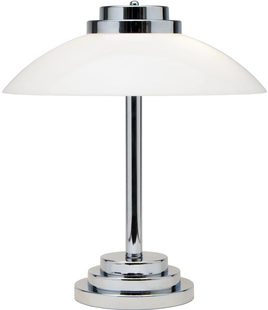 Stratton art deco style chrome and opal glass table lamp uk made aloadofball Image collections