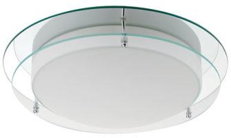 Bathroom Flush 20w LED Ceiling Light Mirror & Opal Glass IP44
