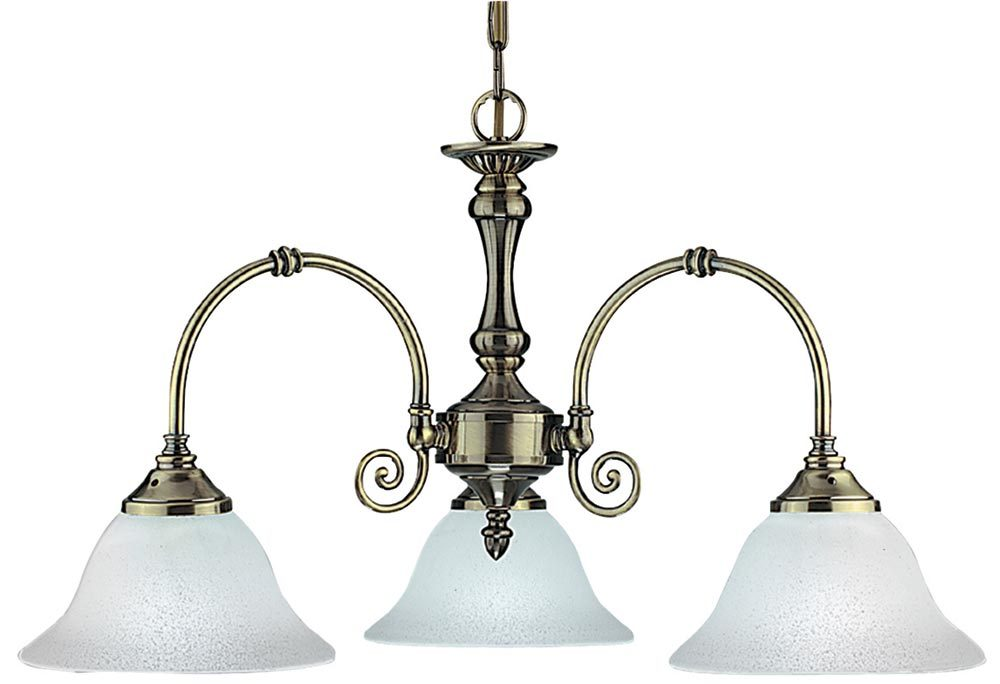 Virginia 3 Arm Traditional Antique Brass Ceiling Light