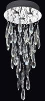 Franklite Shimmer Chrome 3 Light LED Crystal Chandelier