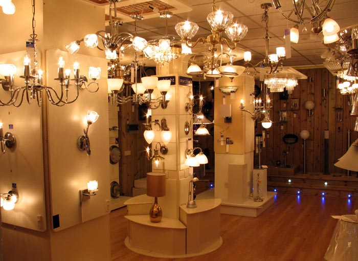 Main showroom lighting display