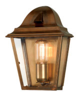 Elstead St James Solid Brass Period Outdoor Wall Lantern IP44